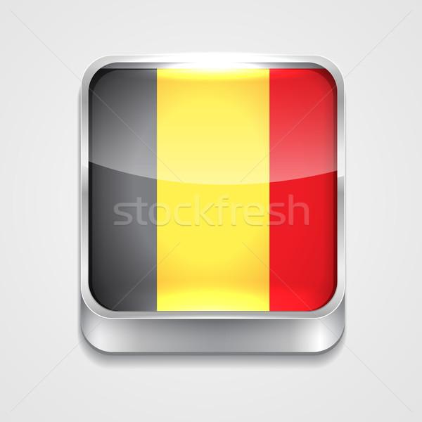 Bayrak Belçika vektör 3D stil ikon Stok fotoğraf © Pinnacleanimates