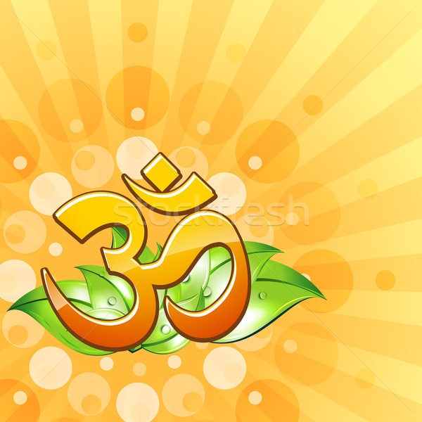 om symbol design Stock photo © Pinnacleanimates
