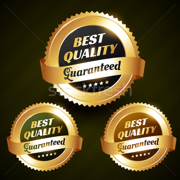 best quality beautiful vector golden label design Stock photo © Pinnacleanimates