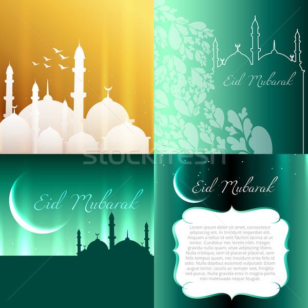 vector attractive set of eid festival background  Stock photo © Pinnacleanimates