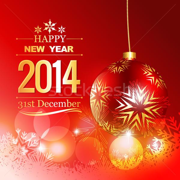 golden happy new year design Stock photo © Pinnacleanimates