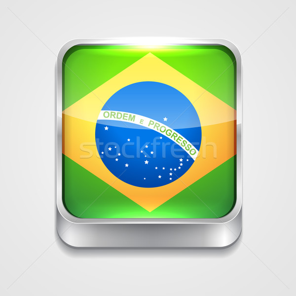 flag of brazil Stock photo © Pinnacleanimates
