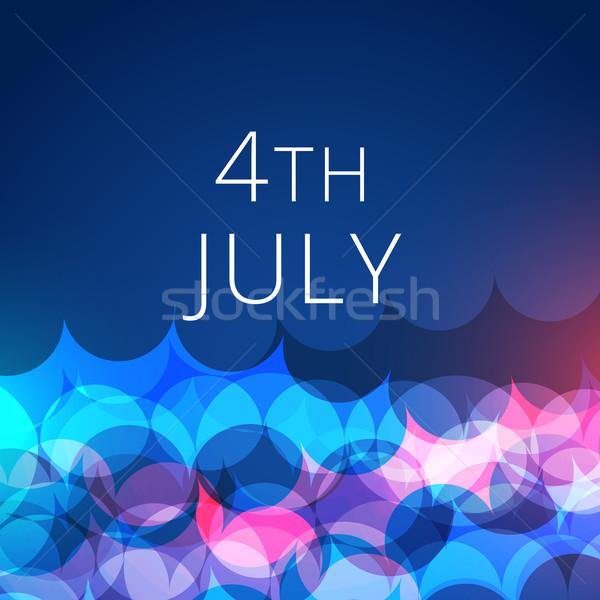 stylish 4th of july background Stock photo © Pinnacleanimates