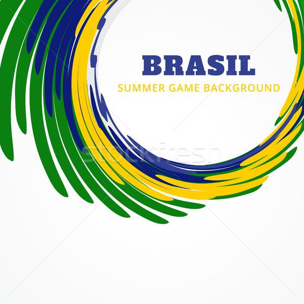 Foto stock: Vetor · Brasil · projeto · futebol · esportes · onda