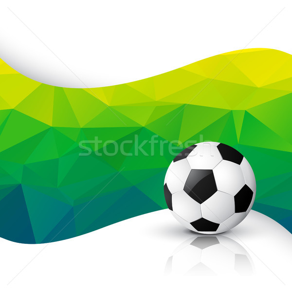 Jogo de futebol projeto vetor futebol arte esportes Foto stock © Pinnacleanimates
