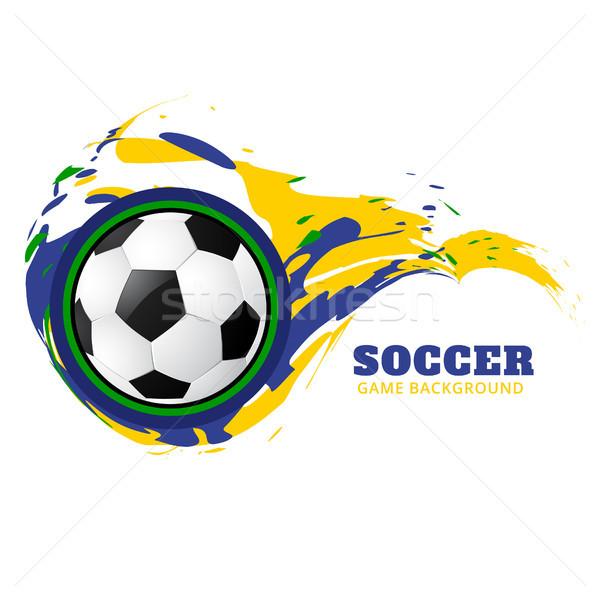 Foto stock: Grunge · estilo · vector · fútbol · diseno · deportes