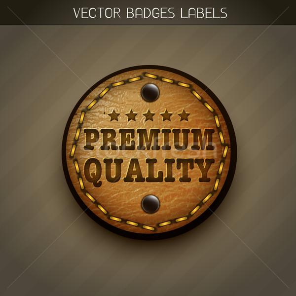 leather label Stock photo © Pinnacleanimates