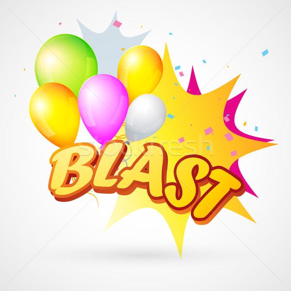 illustration of  blast with balloon Stock photo © Pinnacleanimates
