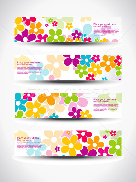 vector set of headers Stock photo © Pinnacleanimates