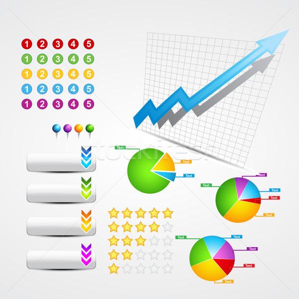 set of business and web elements Stock photo © Pinnacleanimates
