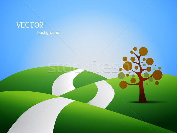 land scape vector Stock photo © Pinnacleanimates