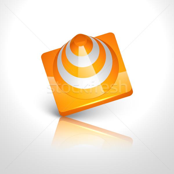 Inşaat simge vektör yol yapımı dizayn imzalamak Stok fotoğraf © Pinnacleanimates