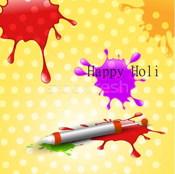 colorful holi splashes Stock photo © Pinnacleanimates