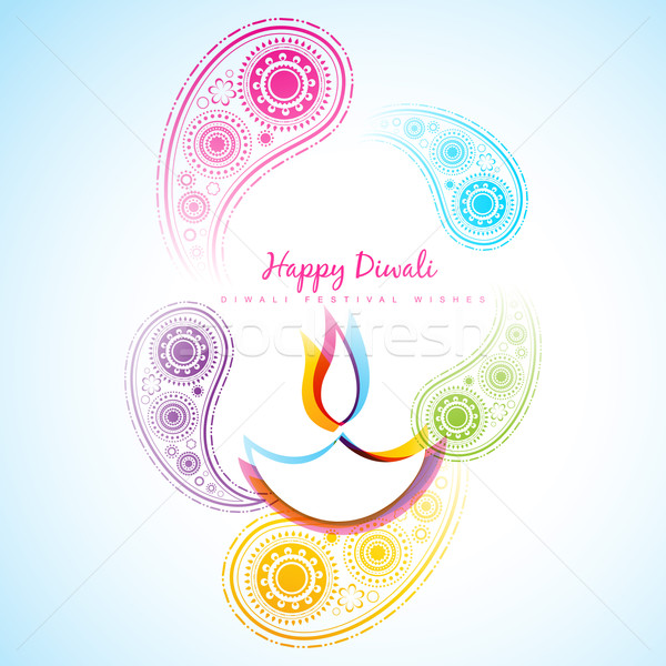 Stock photo: beautiful diwali background