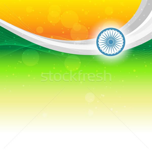 Foto stock: Hermosa · indio · bandera · espacio · resumen · diseno