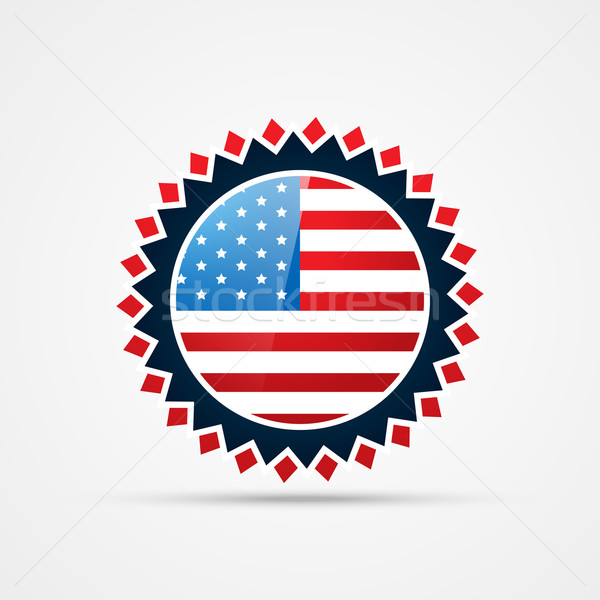 american independence day badge vector Stock photo © Pinnacleanimates