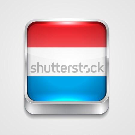 Vlag Luxemburg vector 3D stijl icon Stockfoto © Pinnacleanimates