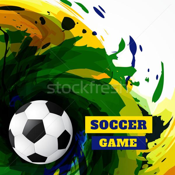 Grunge fútbol diseno resumen partido de fútbol fútbol Foto stock © Pinnacleanimates