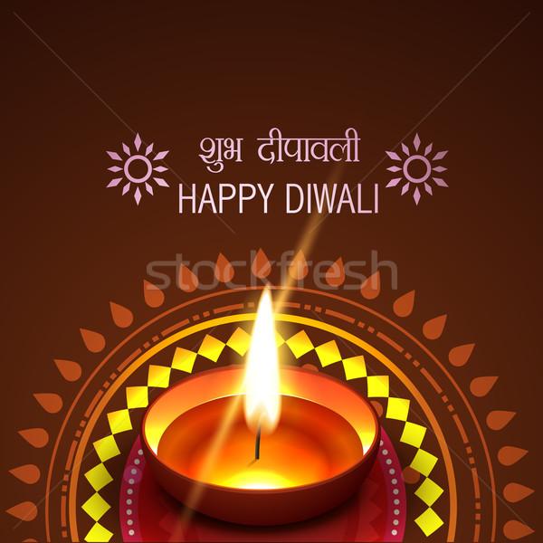 Artístico diwali vector feliz luz diseno Foto stock © Pinnacleanimates