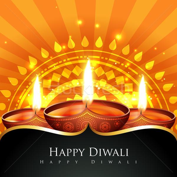 Beautiful background of diwali diya Stock photo © Pinnacleanimates