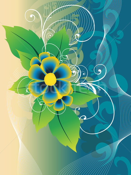 Beautiful flower vector Stock photo © Pinnacleanimates