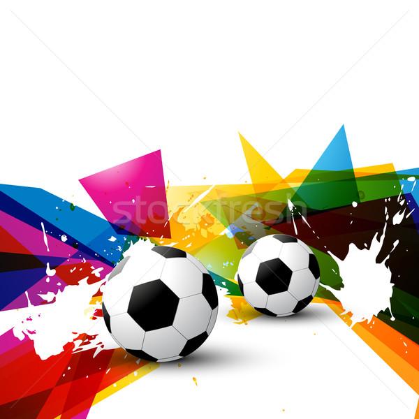 vector colorful football  Stock photo © Pinnacleanimates