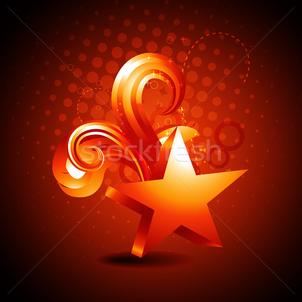 vector star golden shape background Stock photo © Pinnacleanimates