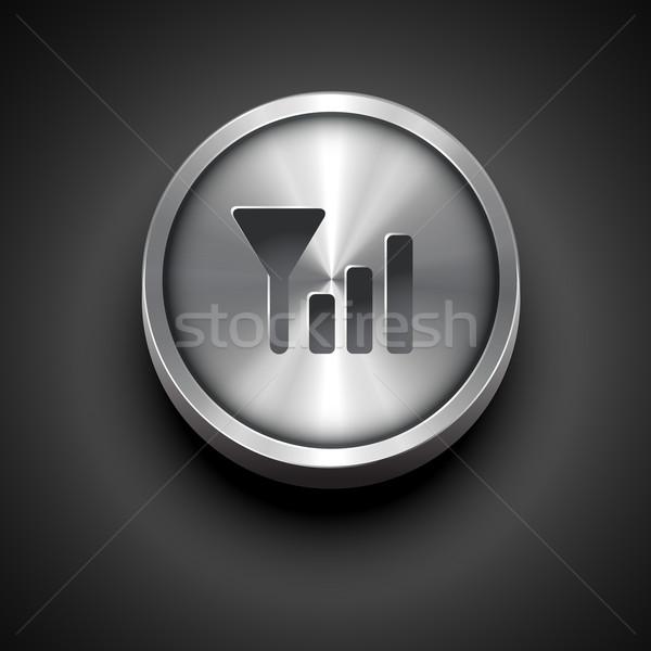 Senal icono vector metálico red diseno Foto stock © Pinnacleanimates