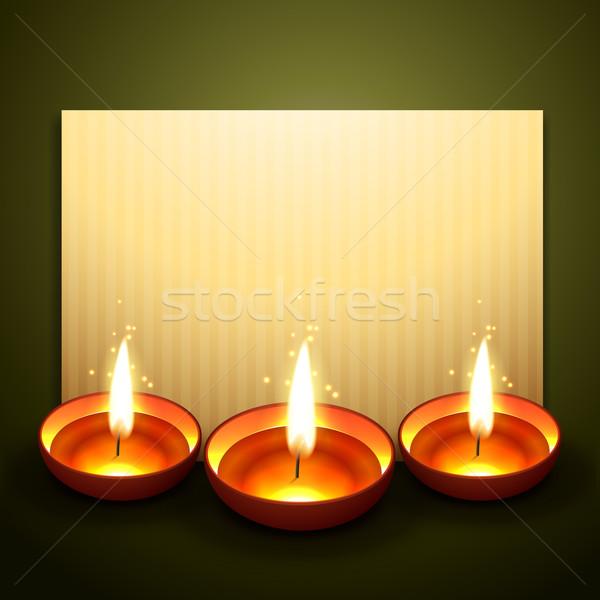 Hermosa diwali saludo espacio feliz luz Foto stock © Pinnacleanimates