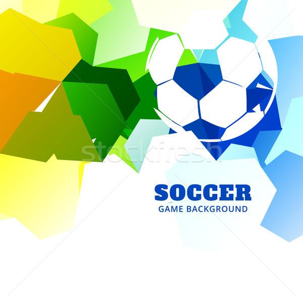 Foto stock: Elegante · abstrato · futebol · projeto · vetor · jogo · de · futebol