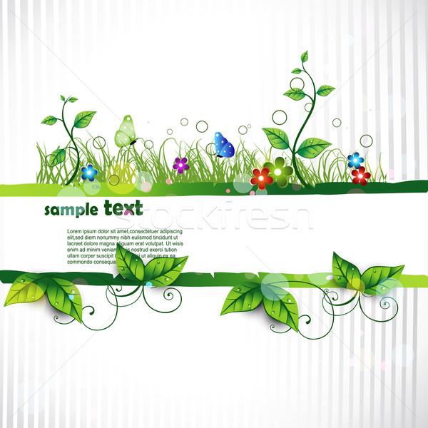 Természet gyönyörű vektor művészi fű zöld Stock fotó © Pinnacleanimates