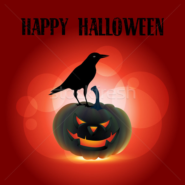 Scary halloween projektu wektora ilustracja domu Zdjęcia stock © Pinnacleanimates