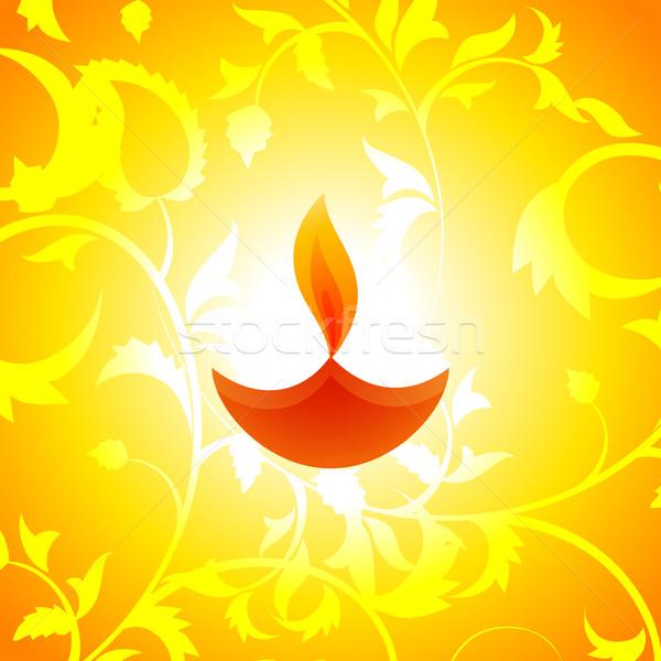 Atractivo diwali vector feliz fondo lámpara Foto stock © Pinnacleanimates