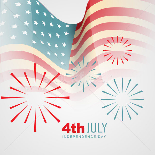 independence day vector Stock photo © Pinnacleanimates