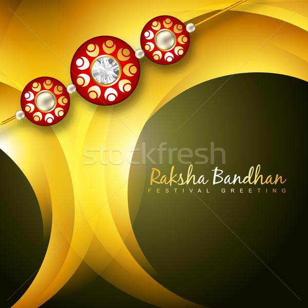 shiny rakhi vector background Stock photo © Pinnacleanimates