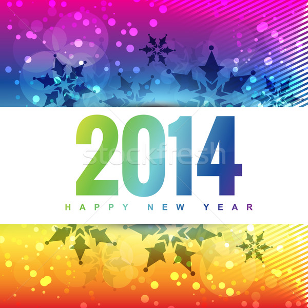 colorful 2014 new year Stock photo © Pinnacleanimates
