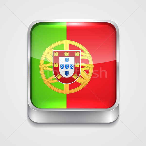 フラグ ポルトガル ベクトル 3D スタイル アイコン ストックフォト © Pinnacleanimates