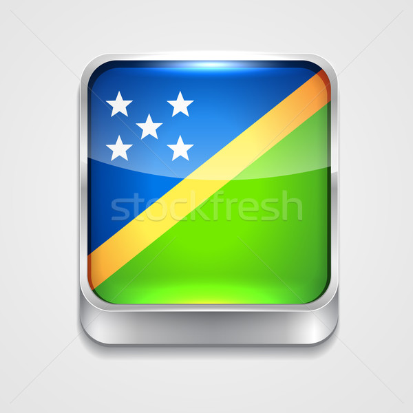 flag of solomon islands Stock photo © Pinnacleanimates