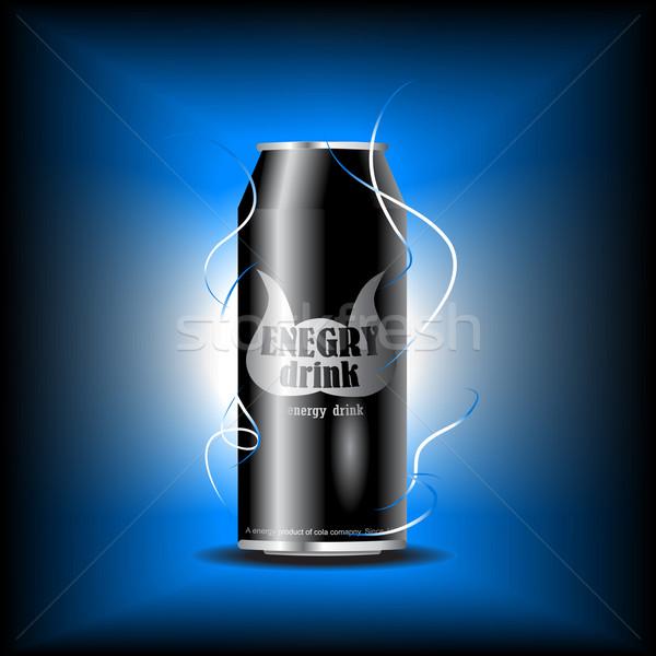Vektor energiaital konzerv textúra absztrakt szépség Stock fotó © Pinnacleanimates