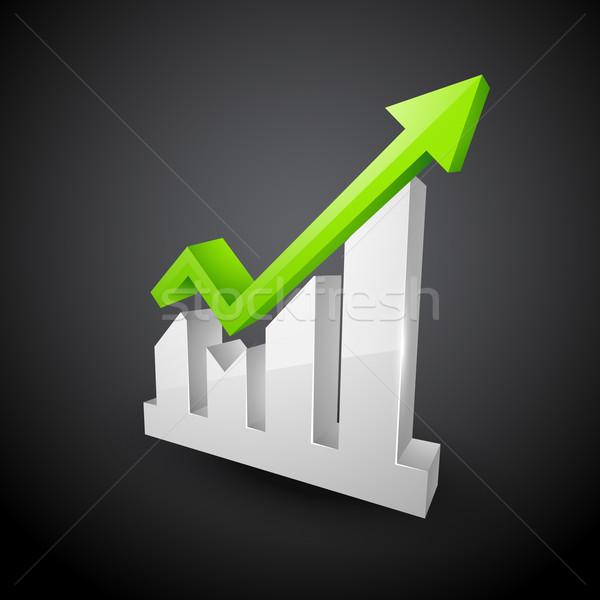 green arrow showing growth Stock photo © Pinnacleanimates
