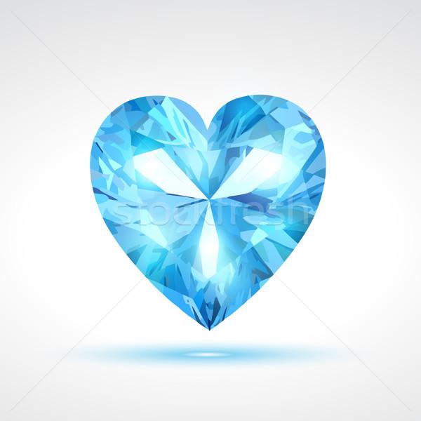 青 ベクトル バレンタイン 中心 抽象的な 光 ストックフォト © Pinnacleanimates