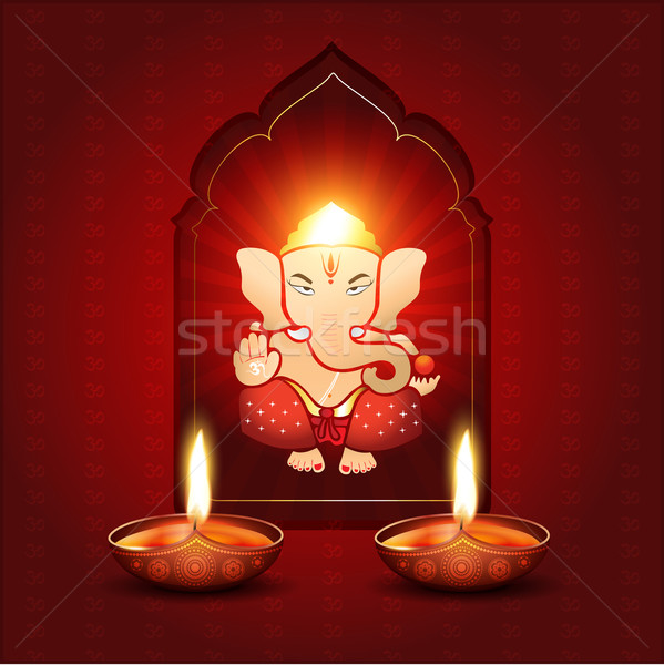 Indian god mooie bloem licht aanbidden Stockfoto © Pinnacleanimates