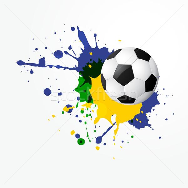 Stock photo: vector football design