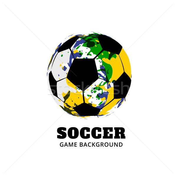 Бразилия футбола Футбол дизайна вектора спортивных Сток-фото © Pinnacleanimates