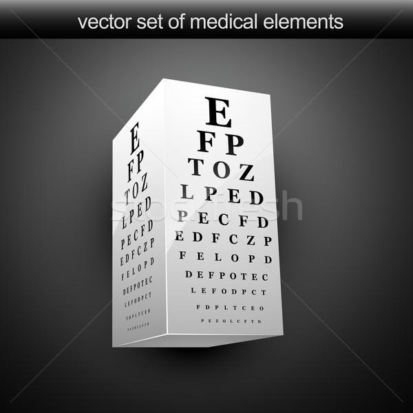 Oog grafiek vector illustratie 3D medische Stockfoto © Pinnacleanimates