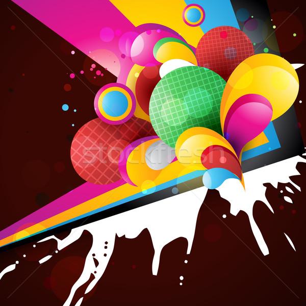Absztrakt mű színes terv eps10 szín Stock fotó © Pinnacleanimates