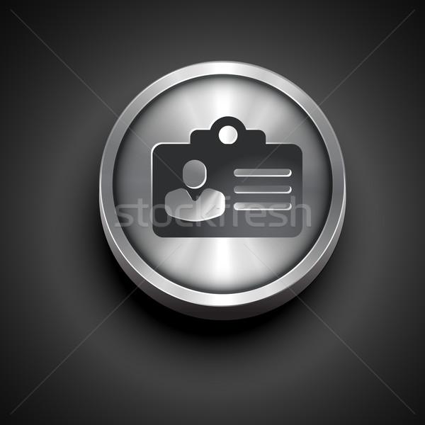 Madeni kimlik kartı vektör dizayn iş kurumsal Stok fotoğraf © Pinnacleanimates