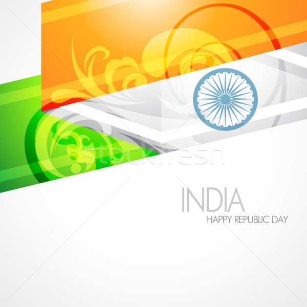 Foto stock: Artístico · indio · bandera · vector · diseno · ilustración