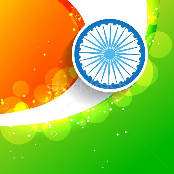 stylish creative indian flag Stock photo © Pinnacleanimates