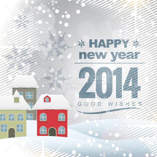 2014 groet ontwerp vector nieuwjaar kleurrijk Stockfoto © Pinnacleanimates